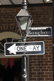 One Way Road Sign Changed to Read Gone Gay New Orleans USA Photographic Print by  petert2