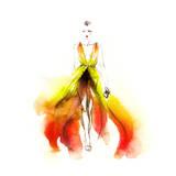 Woman in Dress Prints by Anna Ismagilova