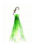 Woman in Dress Print by Anna Ismagilova
