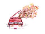 Piano Music Poster by  okalinichenko