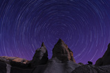 Star Trails in Cappadocia, Turkey Photographic Print by  Ruangrat