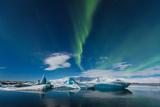 Aurora Borealis in Jokulsarlon, Iceland Ice Lagoon Photographic Print by  simonekesh
