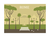 Park in Rome. Vector Posters by  Ladoga