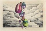 tannene - Vintage Eggs Balloons for Easter - Poster