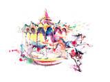 Carrousel Print by  okalinichenko