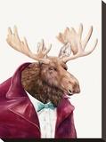 Moose Impressão em tela esticada por  Animal Crew