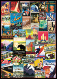 Travel the USA Vintage Ad Collage 1000 Piece Puzzle Jigsaw Puzzle