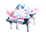 Music Print by  okalinichenko