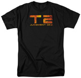 Terminator 2 - Fire Logo Shirts