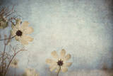 Grunge Floral Background with Space for Text or Image Photographic Print by  javarman