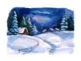 Winter Village Posters by  okalinichenko