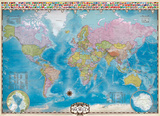 Map of the World 1000 Piece Puzzle Jigsaw Puzzle