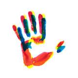 Hand Print Prints by  okalinichenko