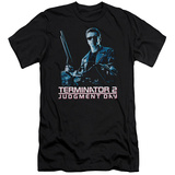 Terminator 2 - Poster (slim fit) T-shirts