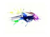 Eye Shadow. Beautiful Woman Eye Prints by Anna Ismagilova