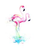 Flamingo. Poster von  okalinichenko