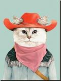Rodeo Cat Impressão em tela esticada por  Animal Crew