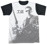 Terminator 2 - T800 Black Back T-Shirt