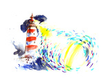 Lighthouse Print by  okalinichenko