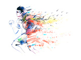 Sports Running Poster by  okalinichenko