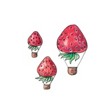 Strawberrys Fly Art by  tannene