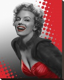 Marilyn Red Stretched Canvas Print by Chris Consani
