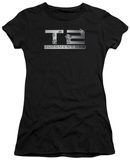 Juniors: Terminator 2 - Gunshot Logo T-shirts