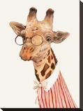 Ms. Giraffe Impressão em tela esticada por  Animal Crew