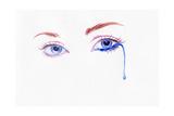 Woman Eye . Hand Painted Fashion Illustration Prints by Anna Ismagilova