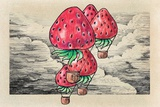 Strawberrys Fly Prints by  tannene