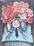 Insomnia of Businessman Art by  tannene