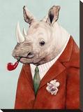Rhino Impressão em tela esticada por  Animal Crew