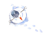 Snowman Poster by  okalinichenko