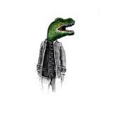 Dinosaur Gentleman Poster by  tannene