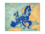 Map of Europe - European Union (Summer Style) Posters by  Tindo