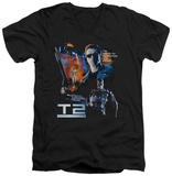 Terminator 2 - Battle V-Neck T-Shirt