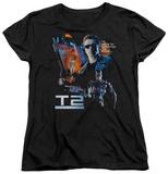 Womans: Terminator 2 - Battle T-Shirt