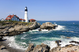 Lighthouse in Portland, Maine Photographic Print by  LuciaP