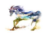 Horse Posters by  okalinichenko