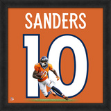 "Emmanuel Sanders, Broncos UNIFRAME 20"" x 20"" Framed photographic representation of the player's jer Framed Memorabilia"