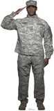 Digital Camo Soldier Lifesize Standup Cardboard Cutouts