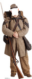 Confederate Civil War Soldier Stand In Cardboard Cutouts
