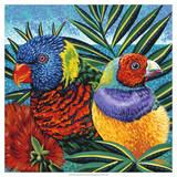 Birds in Paradise II Prints by Carolee Vitaletti