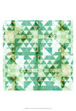Geometry in Mint II Prints by Amy Lighthall