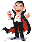 Cartoon Dracula Standup Cardboard Cutouts