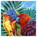 Birds in Paradise I Posters by Carolee Vitaletti