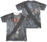 Terminator 2 - T800 Costume (Front - Back Print) T-Shirts