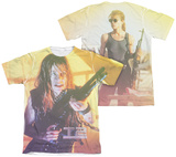 Terminator 2 - Sarah Connor Sub (Front - Back Print) T-shirts