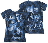 Juniors: Terminator 2 - Protector And Hunter (Front - Back Print) Womens Sublimated