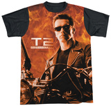 Terminator 2 - Blaze Black Back T-Shirt